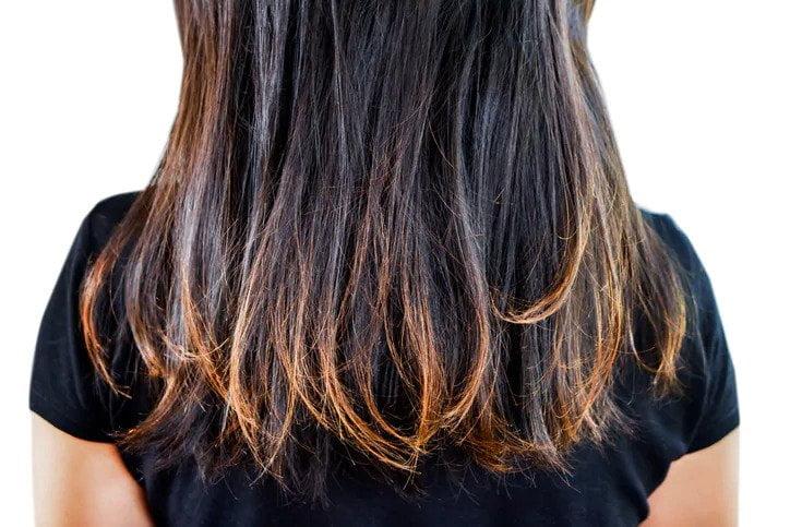işlem görmüş saçlı kadın