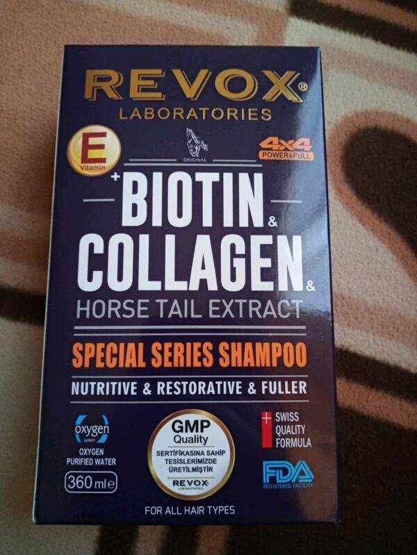 Revox Biotin & Collagen At Kuyruğu Bitki Özlü Saç Bakım Şampuanı