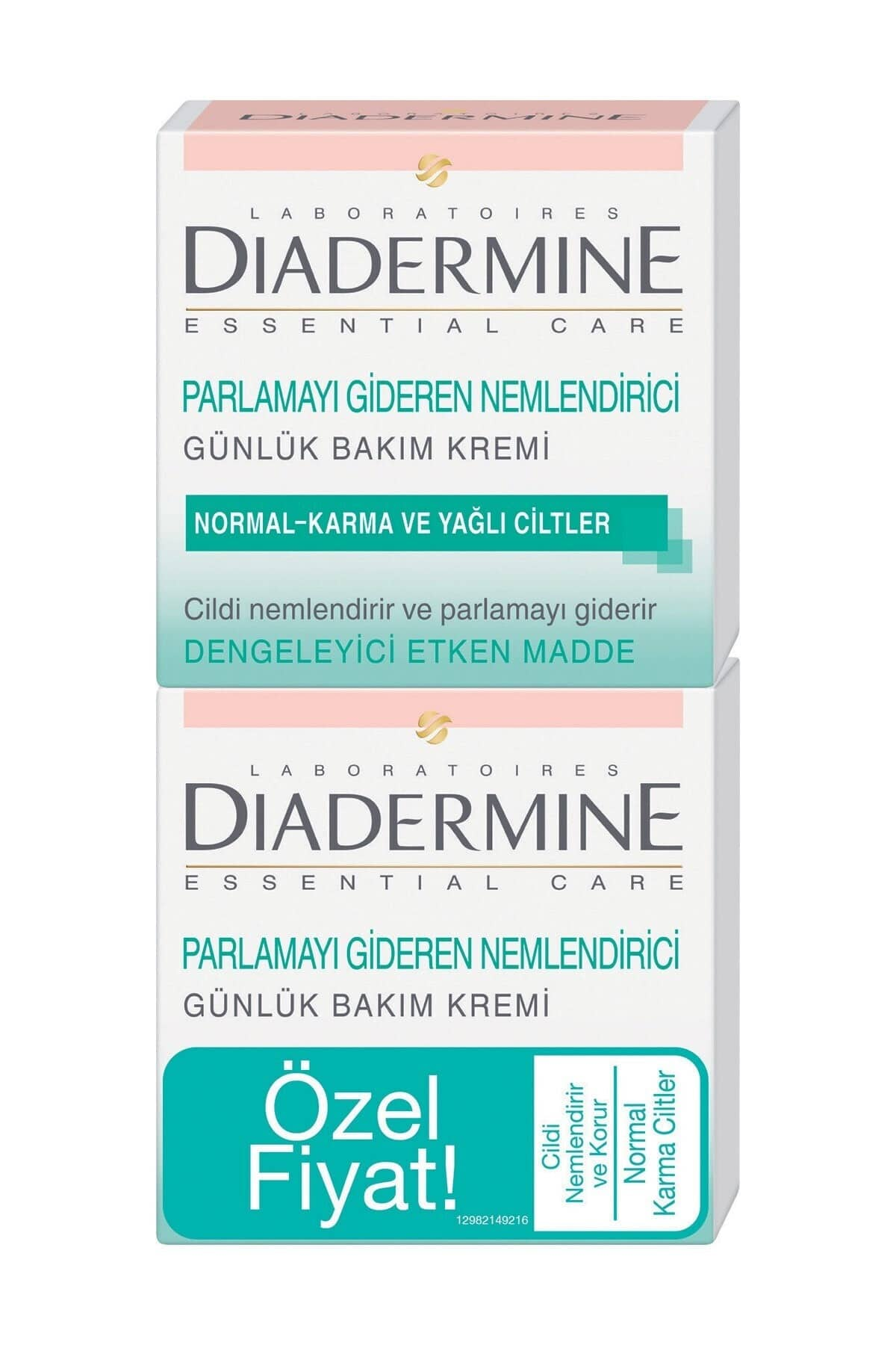 Diadermine Normal, Karma Ve Yağlı Ciltler İçin Nemlendirici Bakım Kremi 2'li 50 ml