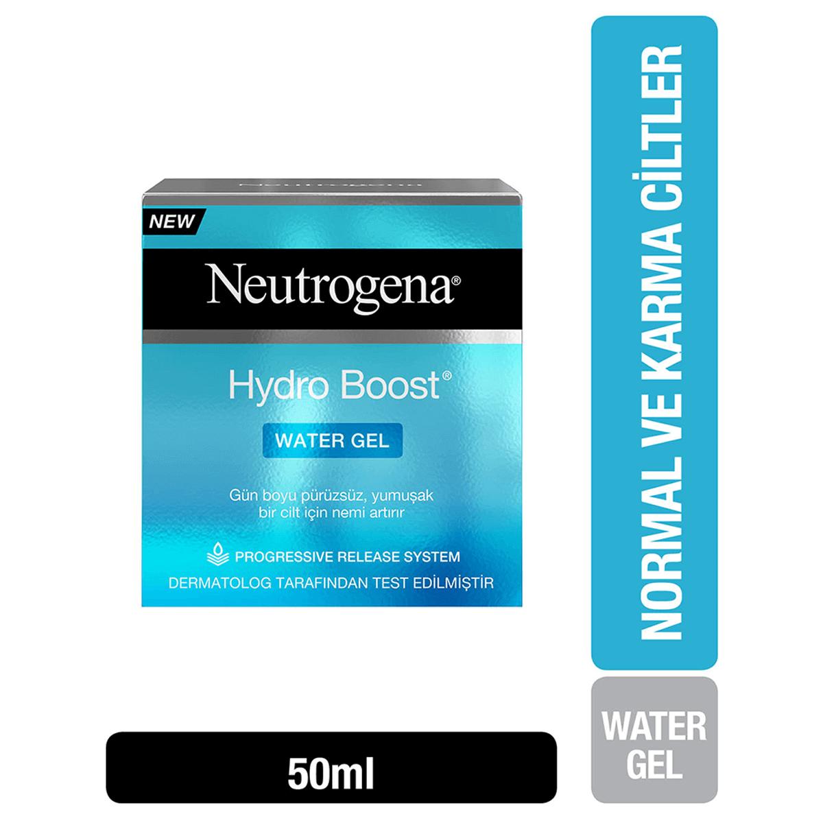 En İyi Yağsız: Neutrogena Hydro Boost Water Gel Nemlendirici Normal Ciltler 50 ml