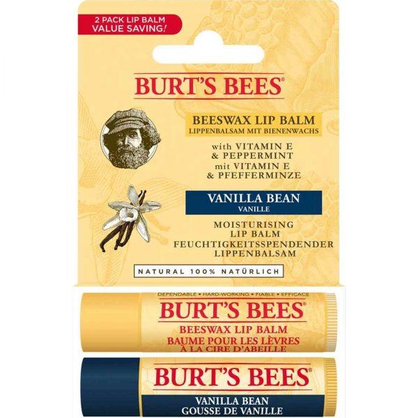Burt's Bees2li Lip Balm Set Beeswax + Vanilya Urun Resmi